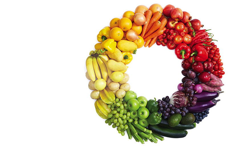 fruit and vegetable wheel