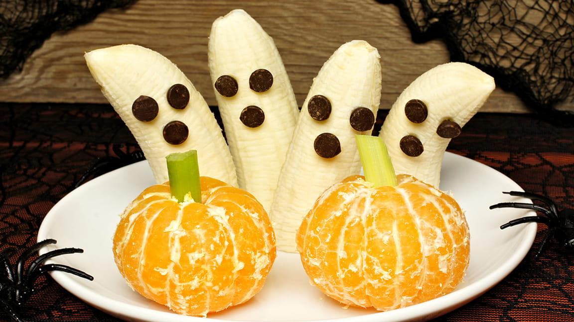 Banana Ghosts and Orange Halloween Treats