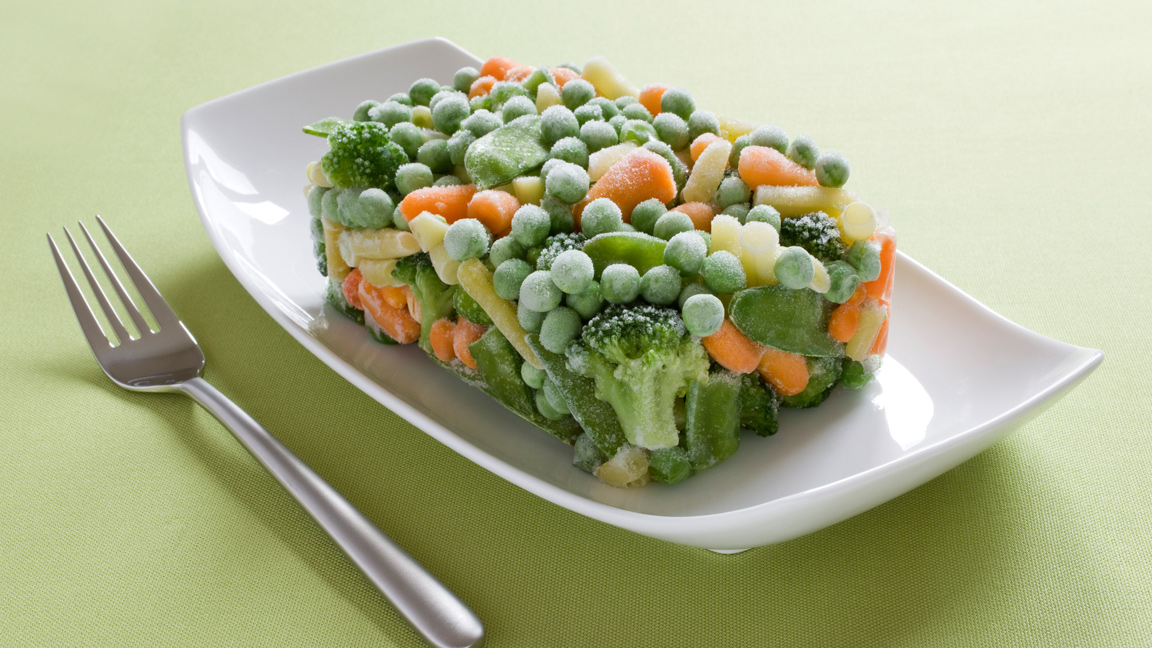 frozen vegetables processed food