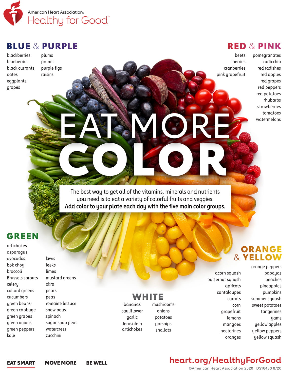 Eat More Color Infographic | American Heart Association