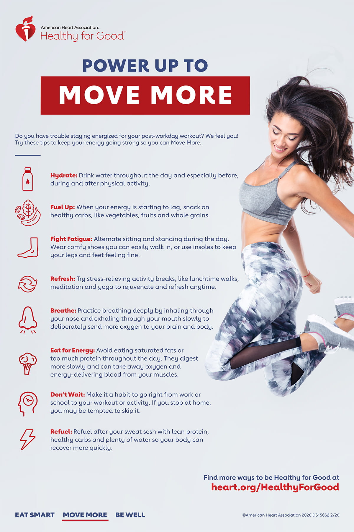 Energy Power up to move more infographic