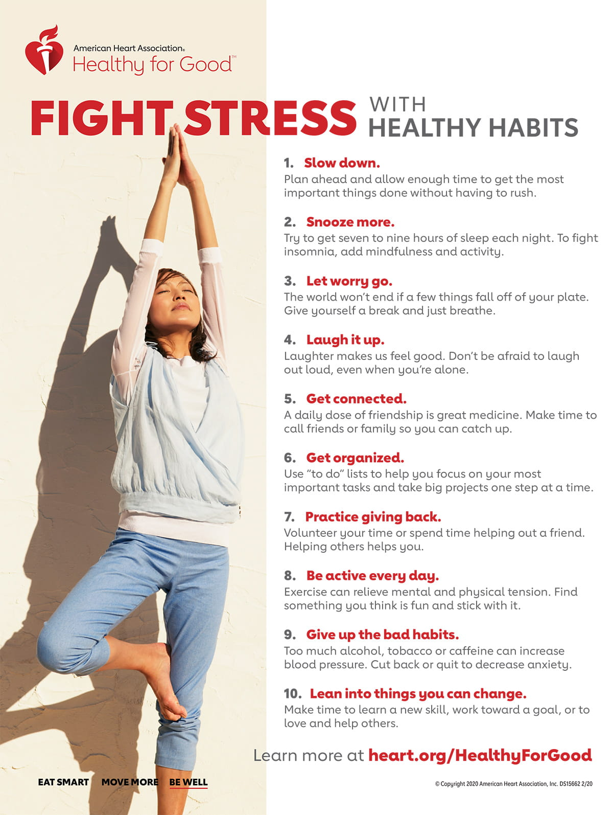 Fight Stress with Healthy Habits Infographic | American ...
