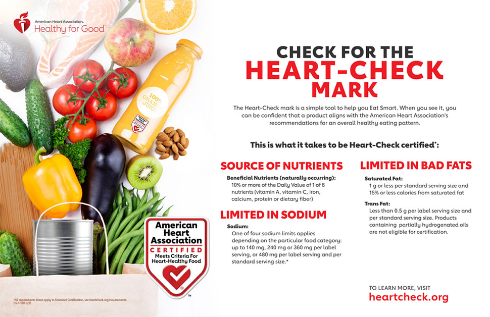 Check For The Heart Check Mark Infographic American Heart Association