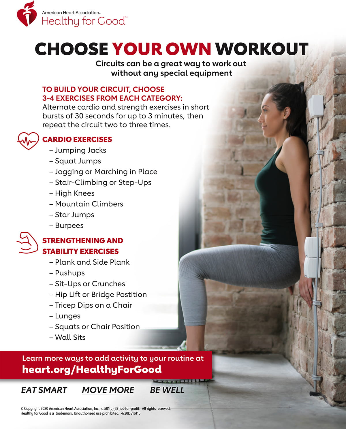 Choose your own home circuit workout