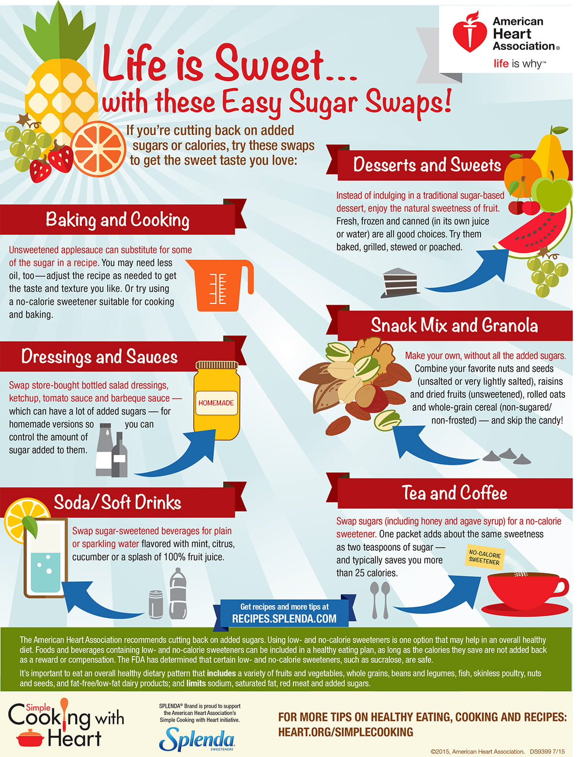 Life is Sweet with thee easy sugar swaps