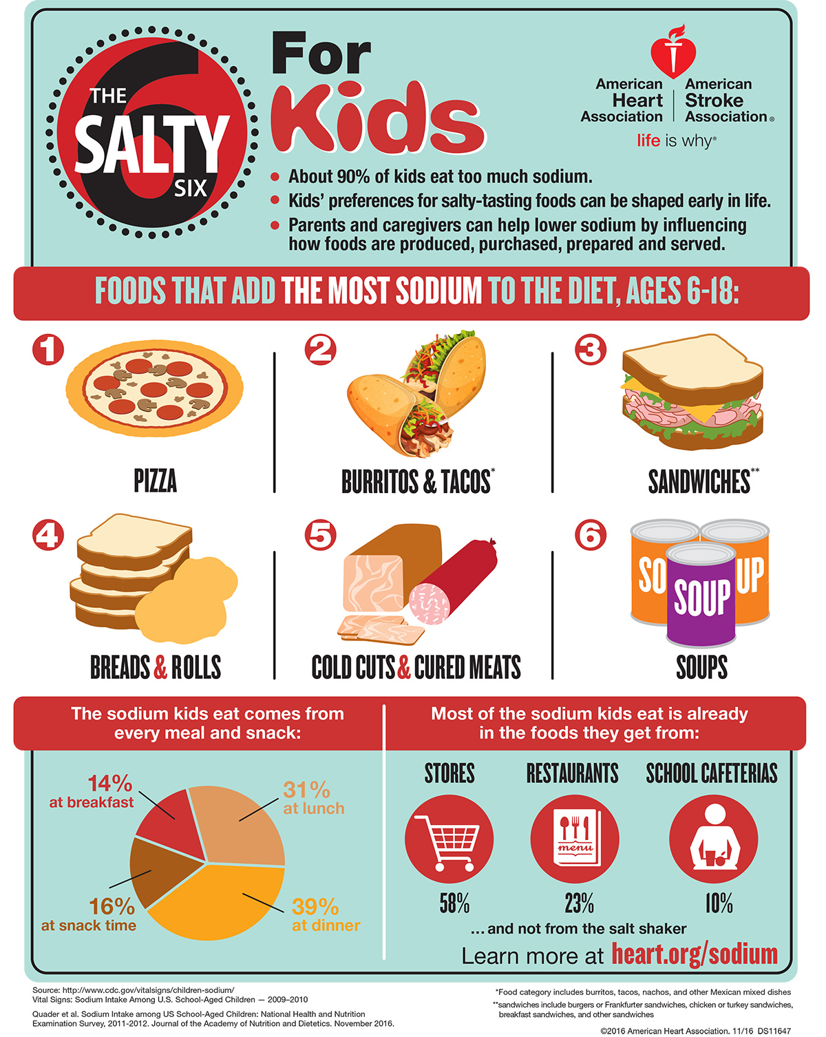 Salty Six for Kids Infographic