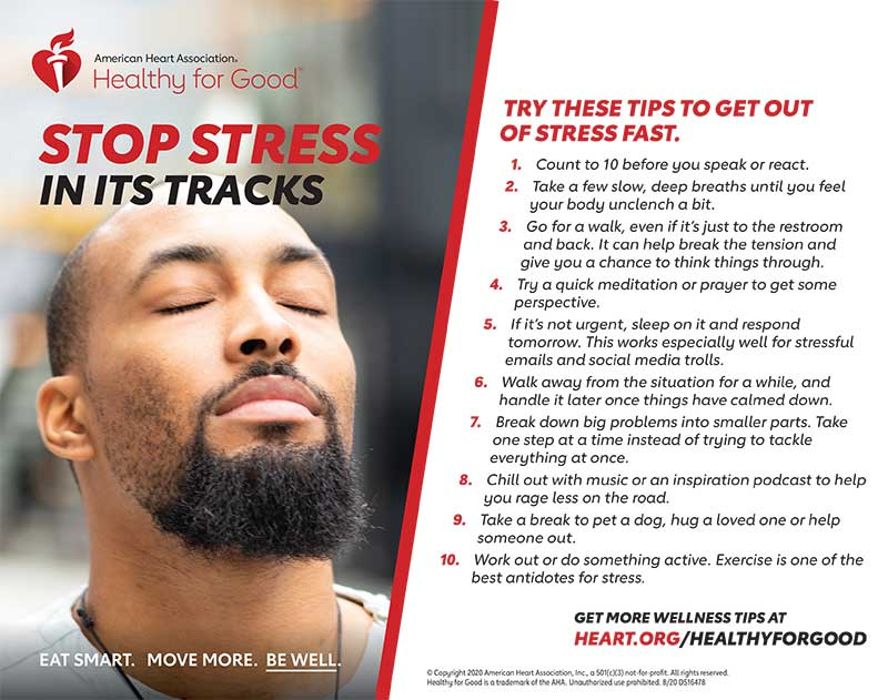 Stop stress in its tracks infographic