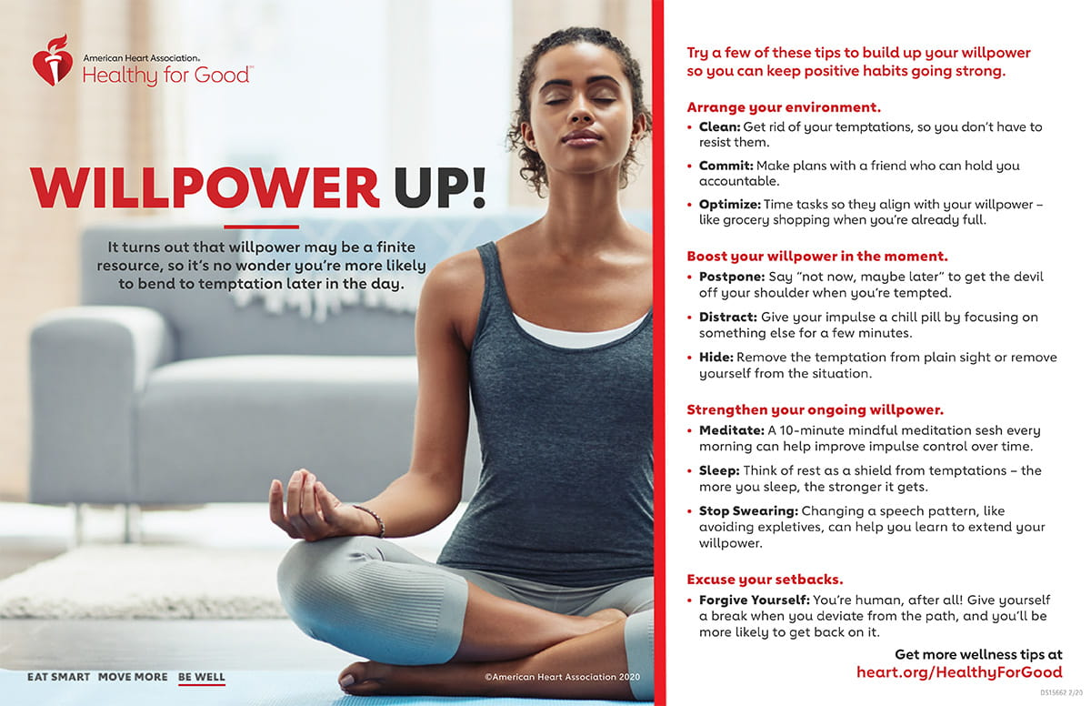 How to Boost Willpower Infographic