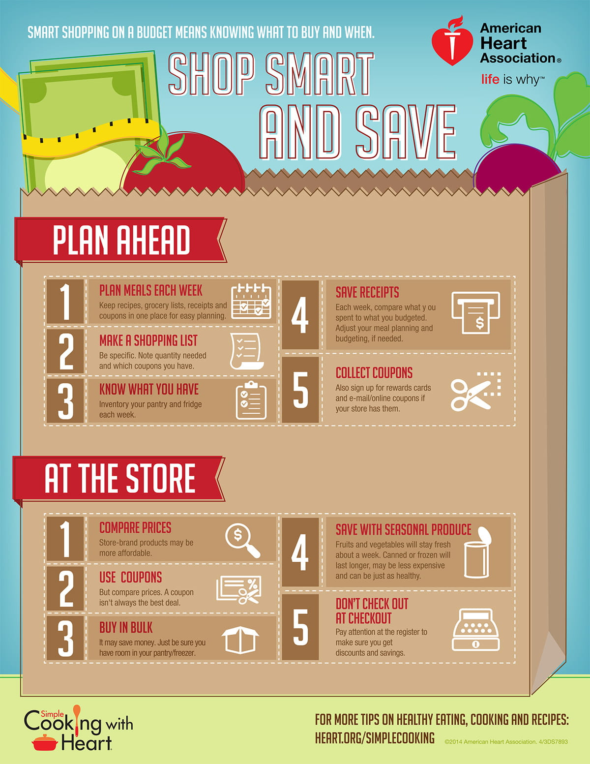 Shopping On A Budget Infographic American Heart Association