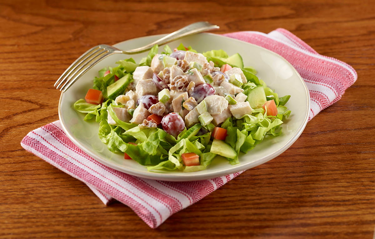 Apple And Walnut Chicken Salad With Green Salad American Heart
