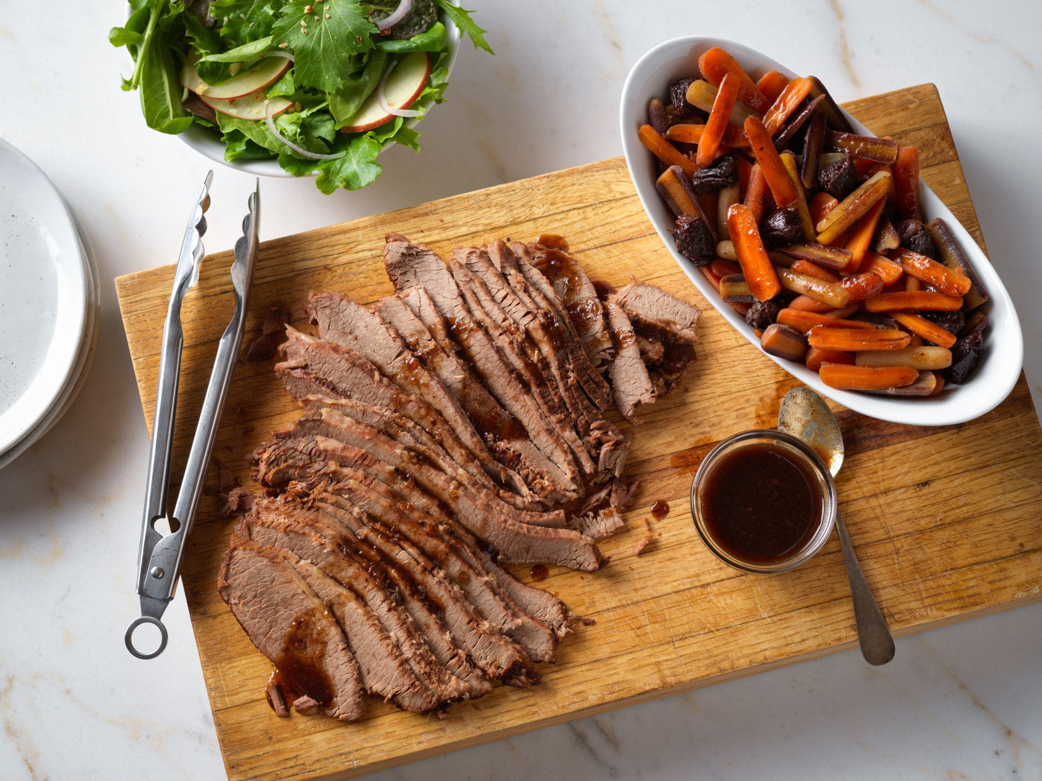 Beef Brisket with Savory Carrots and Dried Plums