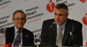 Neil Stone, MD, FAHA, FACC, MACP (left), and Donald Lloyd-Jones, MD, ScM, FAHA