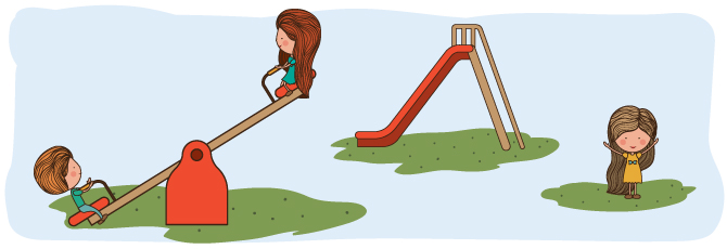 Illustration of kids on a playground