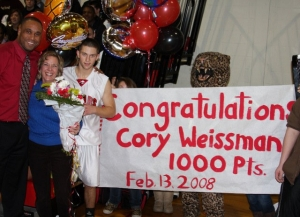 Photo of Cory Weissman after reaching 1000 points