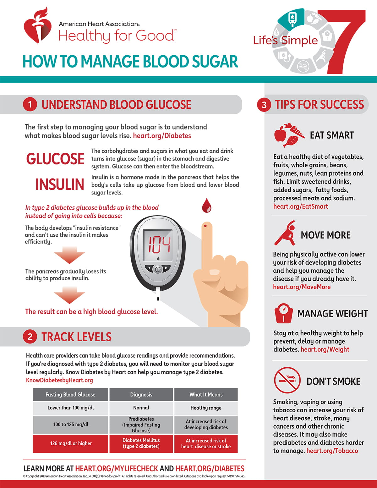 Life's Simple 30 Blood Sugar Infographic   American Heart Association