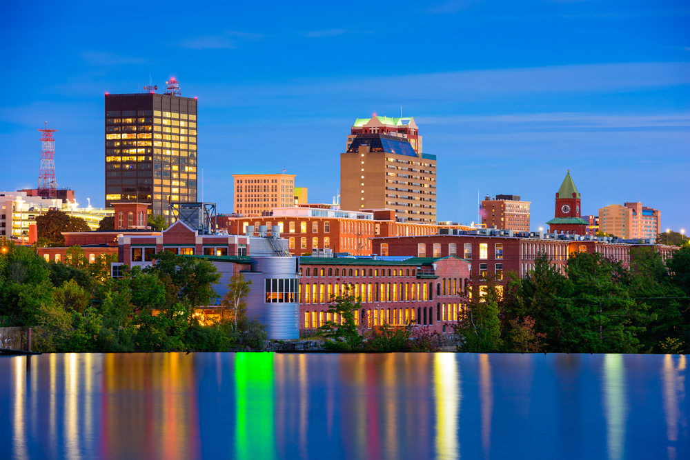 Manchester New Hampshire Skyline