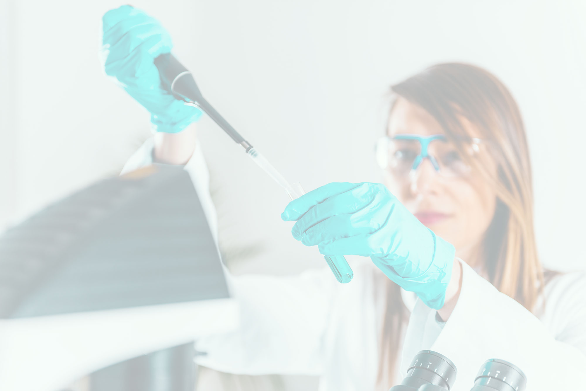 Female doing research in a laboratory