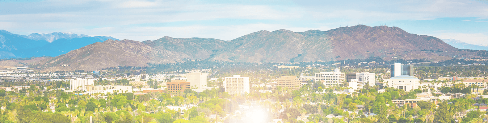 Riverside California skyline