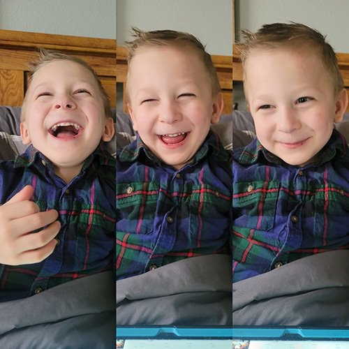 3 pics of happy little boy