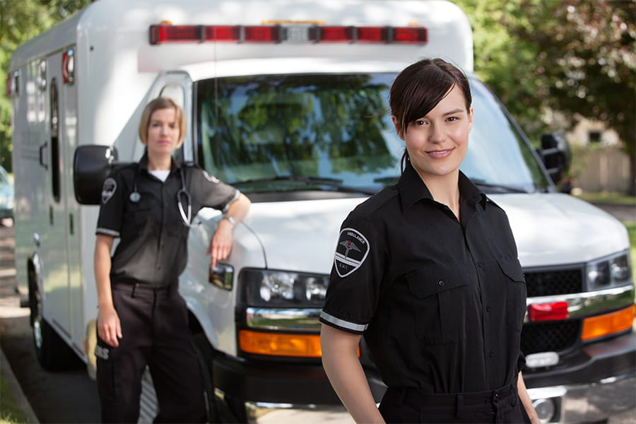 Two female EMTs