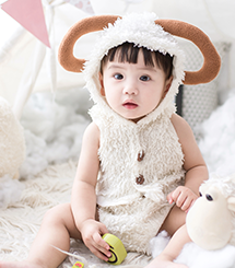 adorable baby in costume