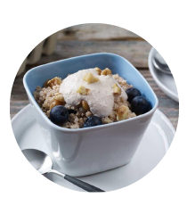 Breakfast Quinoa with Walnut Blueberry