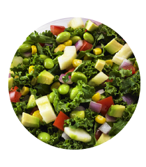 chopped colorful veggie salad
