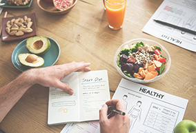 healthy food and diet checklist