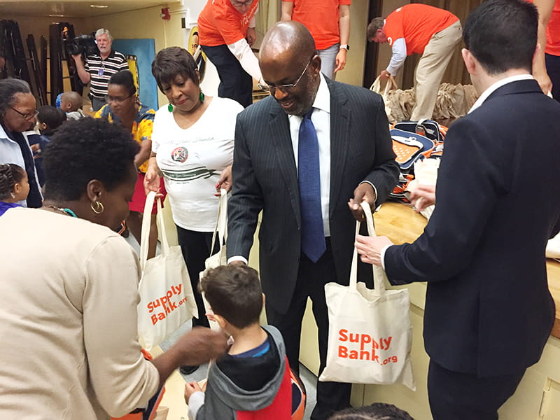 Bernard J Tyson back to school drive