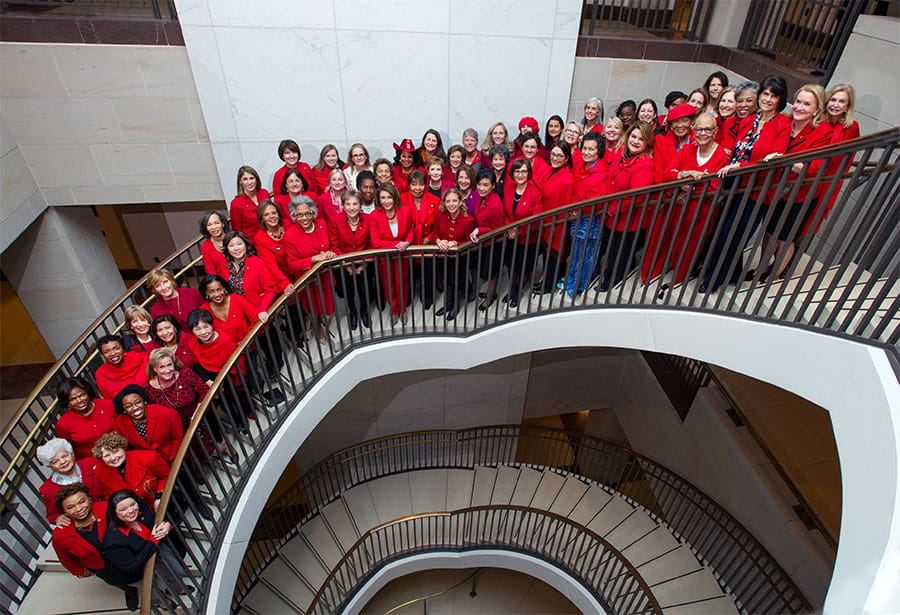Congressional women came together on Capitol Hill to Go Red for Women.