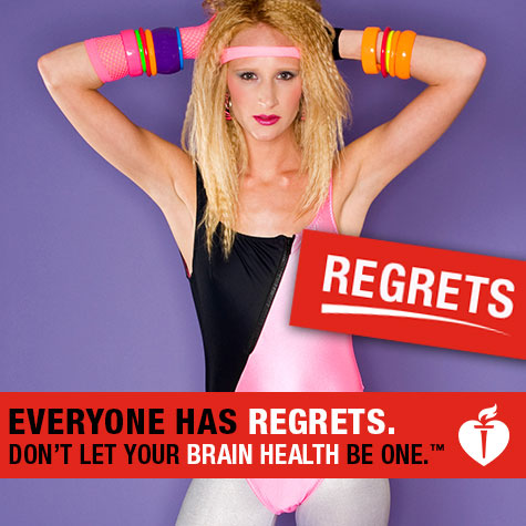 Everyone has regrets. Don't let your brain health be one - leg illustration