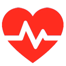 red heartbeat icon