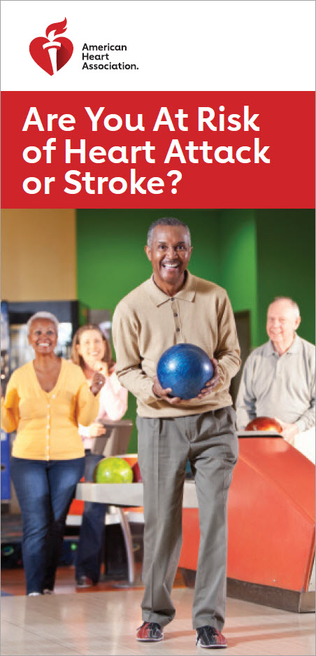 Are you at risk heart attack or stroke brochure cover