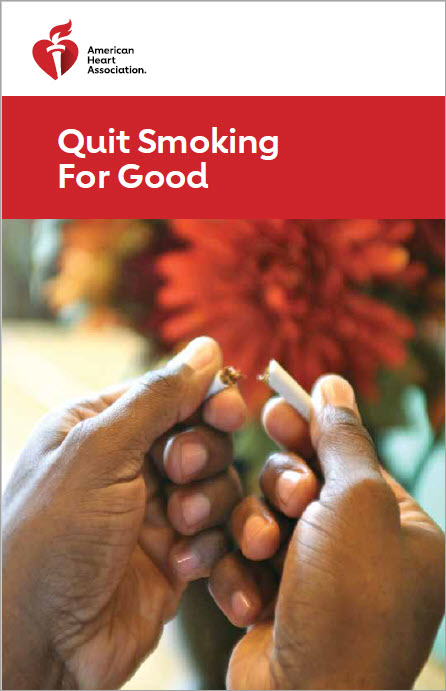 Quit smoking for good brochure cover