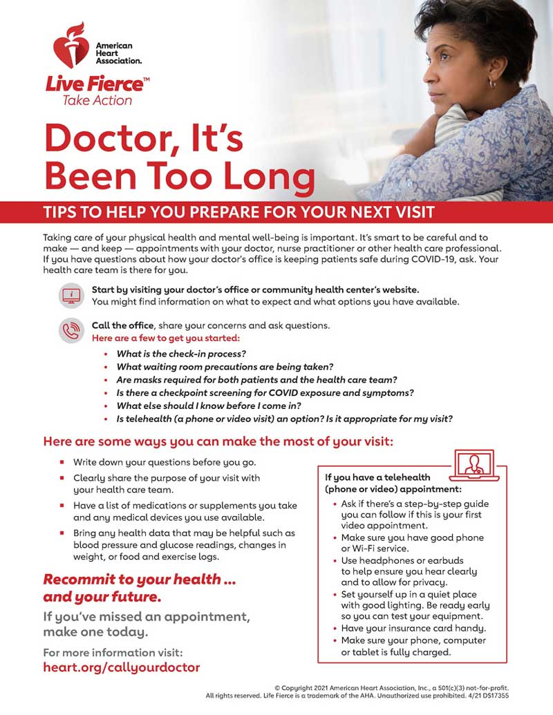 Infographic of tips for your next doctor appointment
