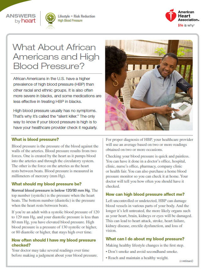 8742d19931491 High Blood Pressure and African Americans | American Heart Association