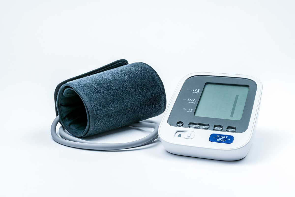 blood pressure cuff and monitor