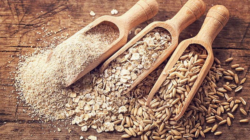 cups of raw whole grains