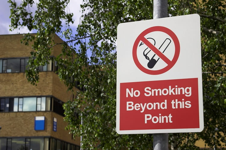 no smoking beyond this point image