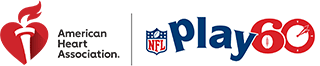 American Heart Association NFL PLAY 60 logo lockup