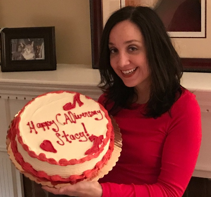 Stacy Quinn celebrates the third anniversary of surviving coronary artery dissection in Dec. 2017