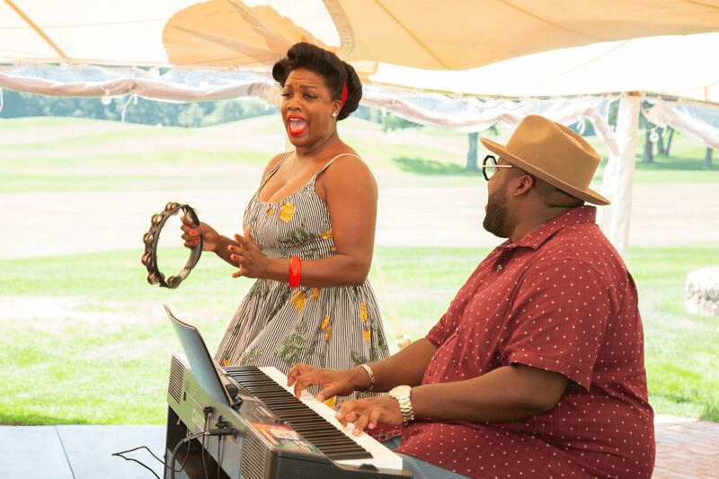 War And Treaty performing at the Martha's Vineyard African-American Film Festival in August. (Photo courtesy of the American Heart Association)