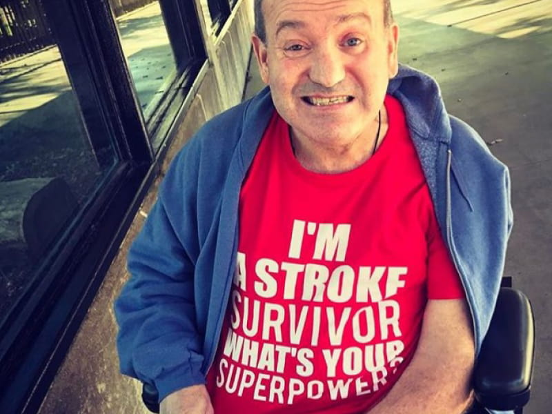 Stroke survivor Rich Lennington