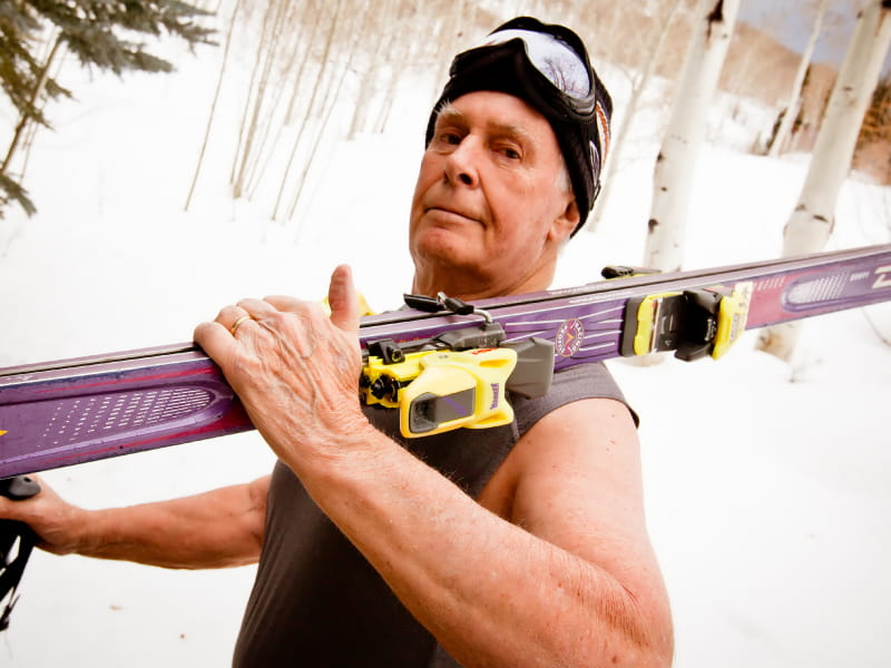 Fred Bartlit, 87, is an avid skier and golfer (Photo courtesy of Steven Droullard).