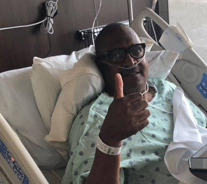 Mathew Knowles after a mastectomy of his right breast. He also plans to have his left breast removed. (Photo courtesy of Mathew Knowles)