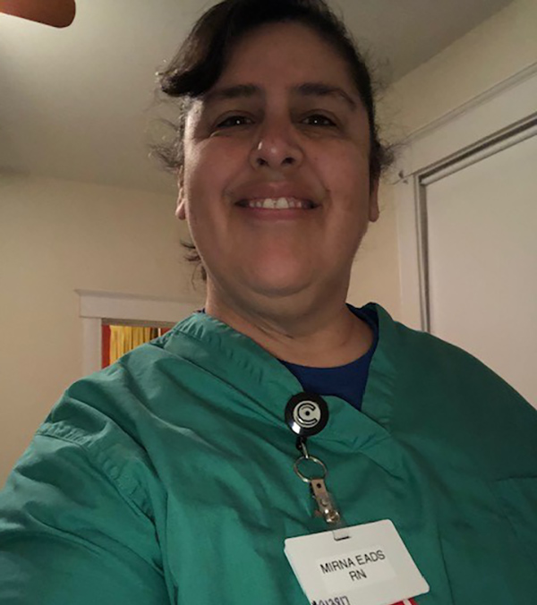 Mirna Eads, a floor nurse at a nursing home in Fort Thomas, Kentucky. (Photo courtesy of Mirna Eads)