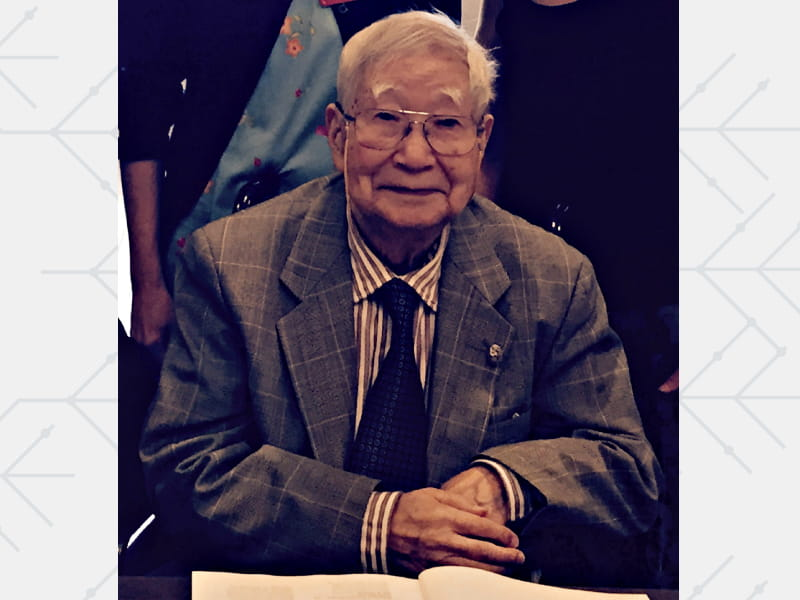 Dr. Tomisaku Kawasaki at the 11th International Kawasaki Disease Symposium in 2015. He died last week at age 95.