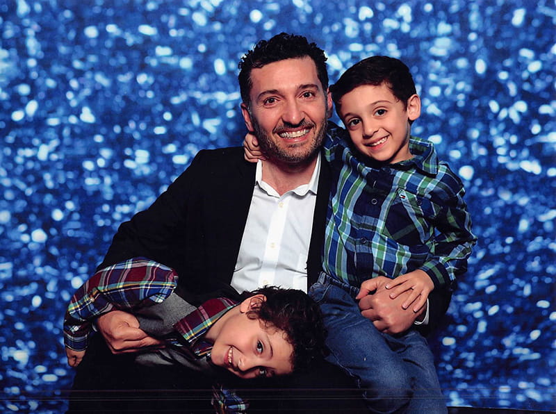 Dr. Samer Kottiech with his sons. (Photo courtesy of Dr. Samer Kottiech)