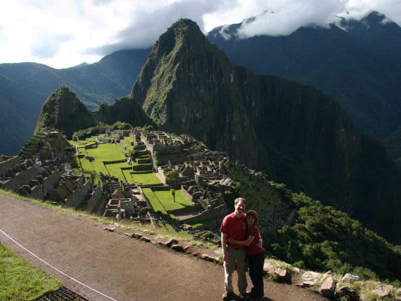 Doug Behan and Lise Deguire during a 12-day trip to Machu Picchu, Peru in May 2011. (Photo courtesy of Lise Deguire)