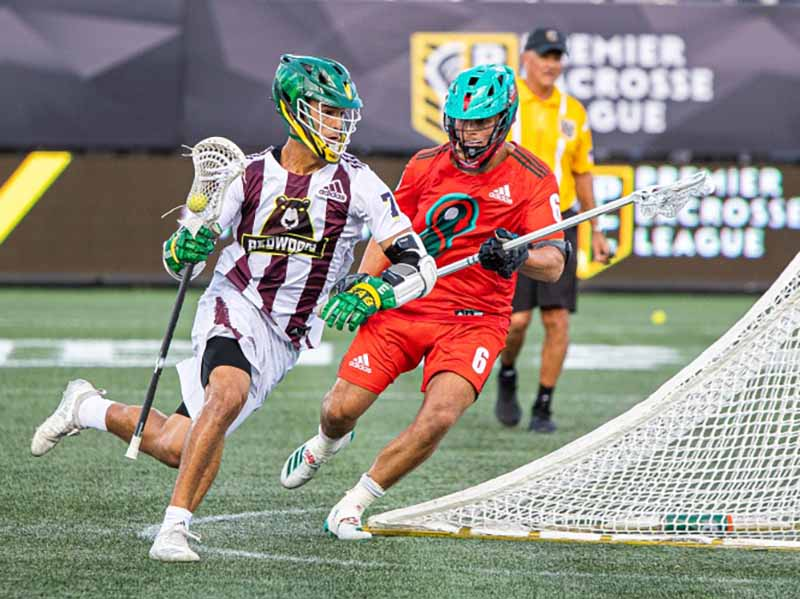 Jules Heningburg (left) of Redwoods LC developed heart complications from COVID-19. (Photo courtesy of Premier Lacrosse League)